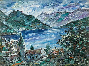 Lovis Corinth - Urfeld at lake Walchen