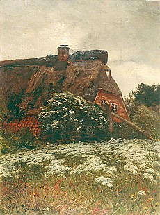 Franz Hoffmann-Fallersleben - Summerday at a farmhouse