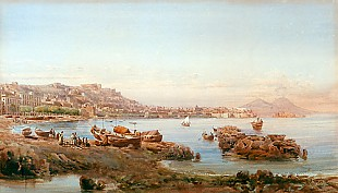 Giovanni Lanza - Panoramic view onto the Golf of Naples