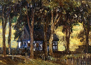 Christian Rohlfs - Farmhouse at Weimar