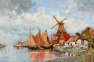 Karl Heffner - Village of fishermen in the Netherlands