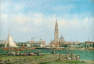 Louise Panhuys - View of Antwerp