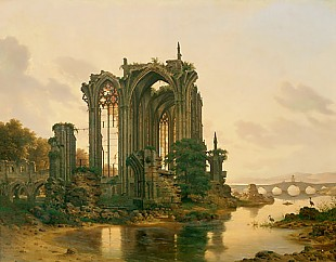 Karl Georg Hasenpflug - Ruin of an gothic chapel in the Eifel