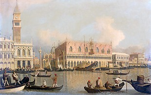 Giovanni Antonio Canal - Umkre Canaletto - View at Venice