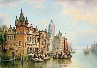 Ludwig Hermann - View at the medieval Frankfurt