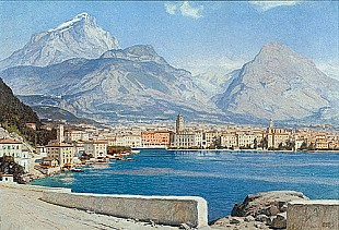 Erich Kips - View of Riva at lake Garda