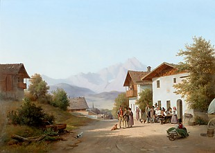 Andreas Thomas Juuel - Sunny day in a bavarian village