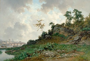 Bernhard Fries - View of Heidelberg