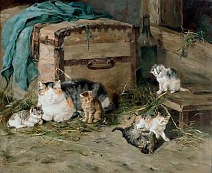 Julius Adam - The playful cats