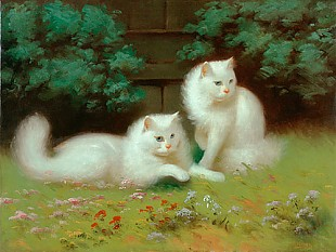 Arthur Heyer - Two cats