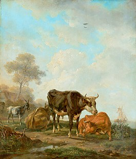 Jan II Kobell - Cows and goats