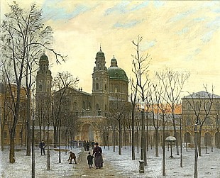 Georg Dehn - Winter afternoon at Hofgarten