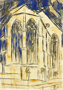 Christian Rohlfs - Choir of an Gothic church in Soest