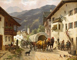 Desire Thomassin - Rest at midday in an Alpine village