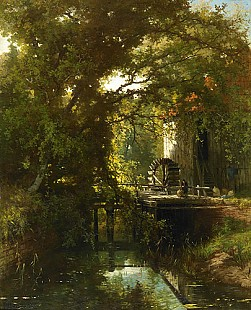 Johannes Warnadus Bilders - Water mill at a creek