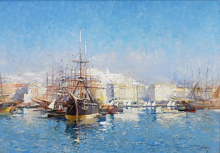 Eugen Galien-Laloue - Sommerday in Marseille