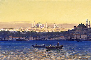 Rudolf Hellgrewe - Evening mood at the Bosporus