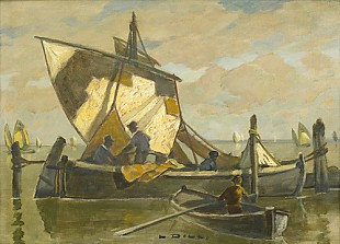 Ludwig Dill - Fisherboats at Torcello