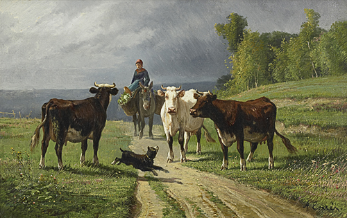 Antonio Cortes - Landscape with cows