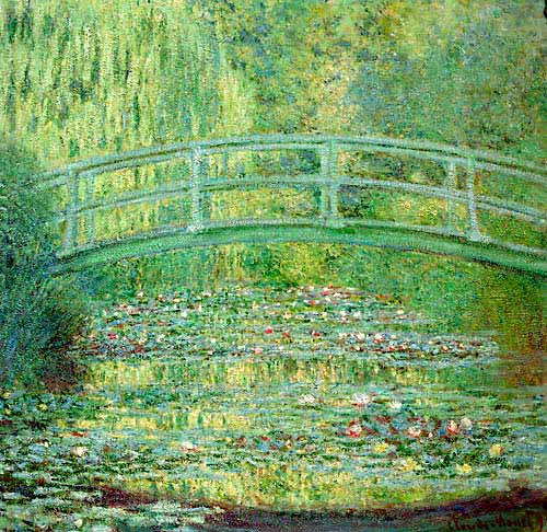 Claude Monet - Lily pond and japanese bridge