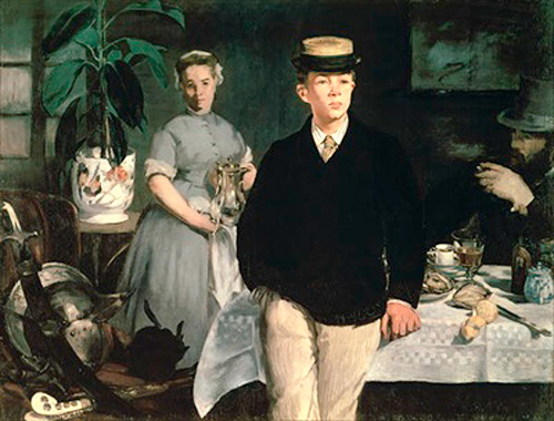 Edouard Manet - Luncheon in the Studio