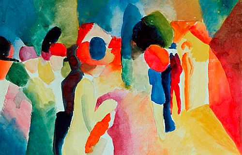 August Macke - Meeting people
