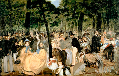 Edouard Manet - Music in the Tuileries Gardens