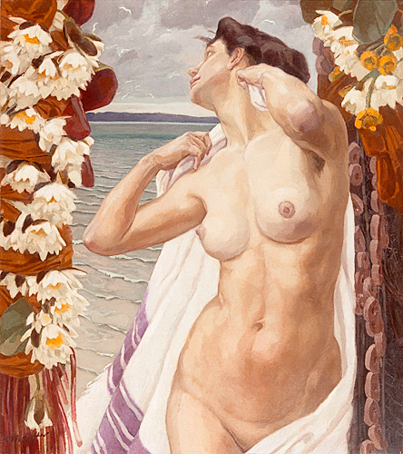 Reinhold Max Eichler - Nude at lake bank