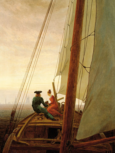Caspar David Friedrich - On a sailing boat