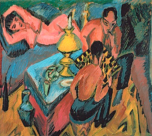 Ernst Ludwig Kirchner - Otto Müller Playing Chess