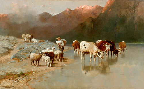Christian Mali - Peace in the evening at the watering drinking trough