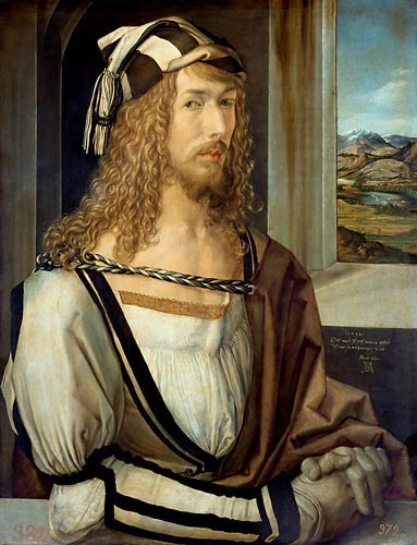 Albrecht Dürer - Self-portrait and landscape