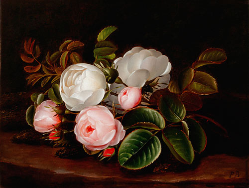 Peter Marius Bang - Still life with blooming roses