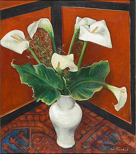 Willy Jaeckel - still life with cala
