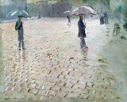 Gustav Caillebotte - Study for a Paris Street, Rainy Day