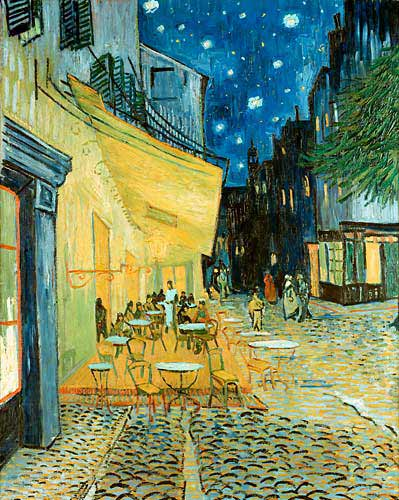 Vincent van Gogh - Terrace of a café in the evening (Le Café soir)