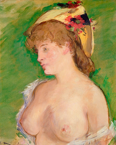 Edouard Manet - The Blonde with Bare Breasts