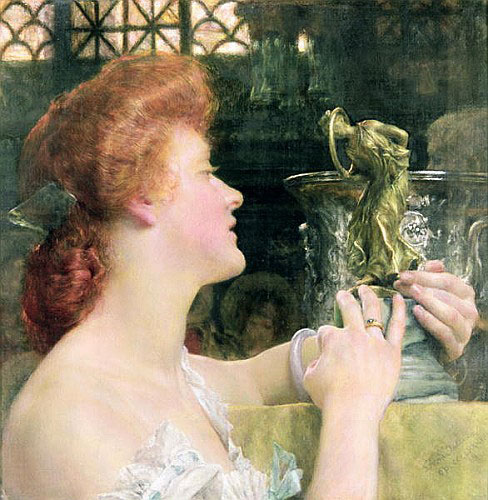 Sir Lawrence Alma-Tadema - The Golden Hour, 1908
