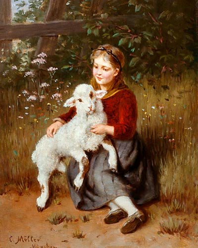 Carl Möller - The pampered lamb