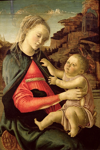 Sandro Botticelli - The Virgin and Child (Madonna of the Guidi da Faenza)