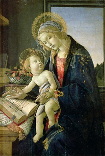 Sandro Botticelli - The Virgin Teaching the Infant Jesus to Read