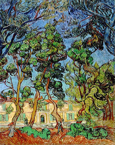 Vincent van Gogh - Trees in the Garden of St. Paul's Hospital