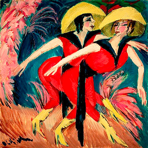 Ernst Ludwig Kirchner - Two red dancing girls