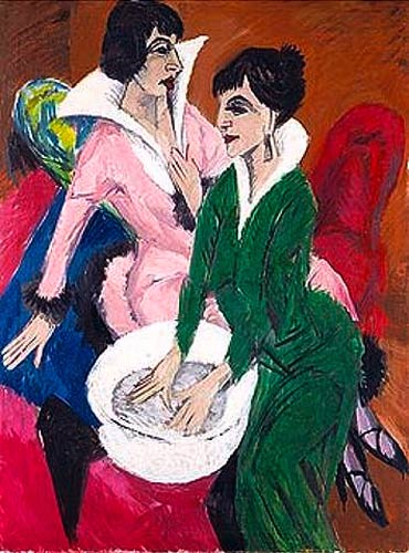 Ernst Ludwig Kirchner - Two women with wash basin (The sisters)