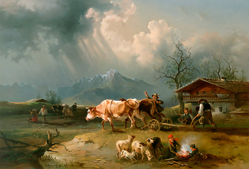 Julius Lindner - Upcoming thunderstorm while plowing