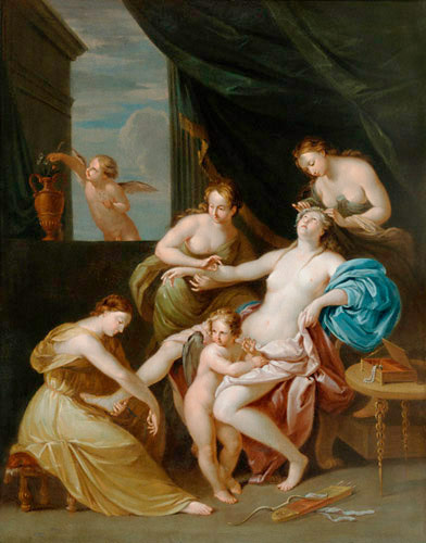 Angelica Kauffmann - Venus using the bathroom