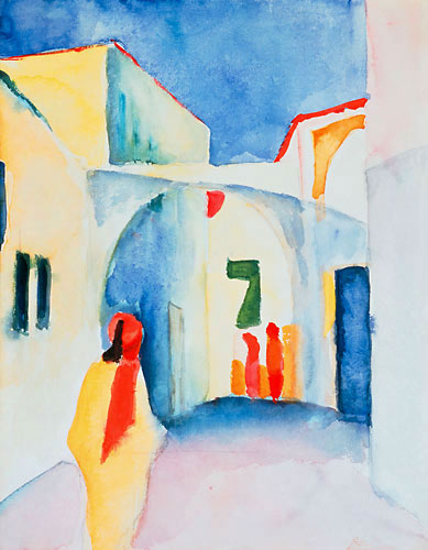 August Macke - View into a lane
