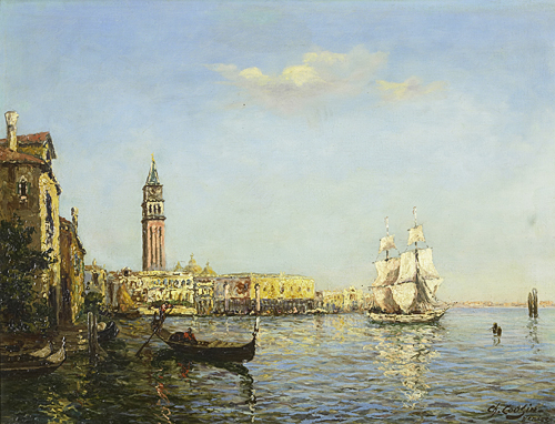 Charles Cousin - View of Campanile