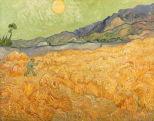 Vincent van Gogh - Wheatfield with Reaper