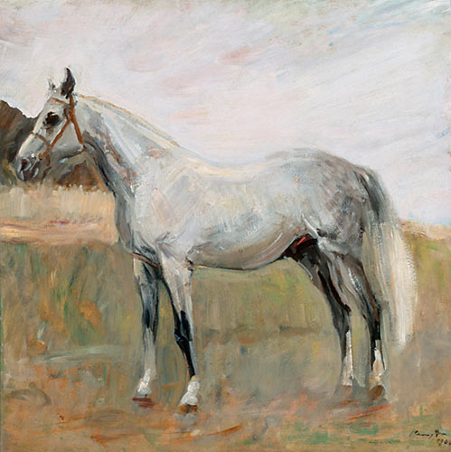 Order painting 'White horse standing' by Max Slevogt